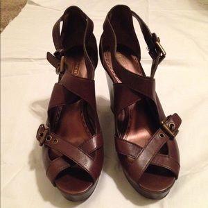 Coach sandal wedges